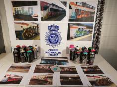 Detenidos nueve grafiteros por generar daños por valor de 40.000 euros