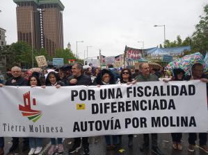La provincia de Guadalajara, muy presente en la manifestación de la Revuelta de la España Vaciada