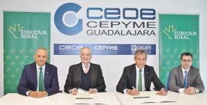 CEOE-Cepyme Guadalajara renueva con Eurocaja Rural su histórico convenio financiero