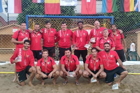 El Palletways Verallia Azuqueca, subcampeón de Europa de balonmano playa
