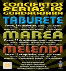 Ya se pueden comprar las entradas para ver a Taburete, Marea o Melendi en los conciertos de Ferias