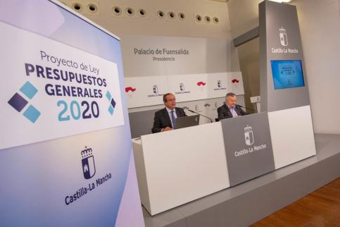 Castilla-La Mancha tendrá un 6,3 por ciento más de Presupuesto para 2020
