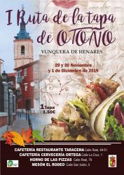 Yunquera celebra su I Ruta de la Tapa de Otoño a partir de este viernes