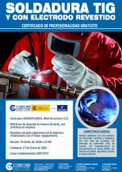 Últimas plazas para los cursos de soldadura y de gestión de información de CEOE-Cepyme