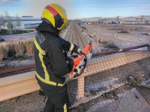 El temporal de este fin de semana ha tenido muy ocupados a los bomberos de Diputación