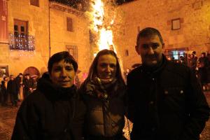 La hoguera de San Vicente volvió a arder en Sigüenza
