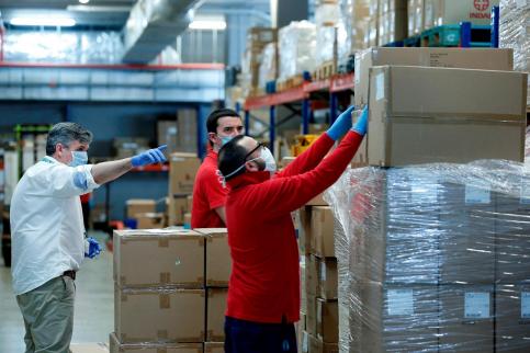 La Peña Escopitos recauda más de 1.000 euros para luchar contra el COVID-19