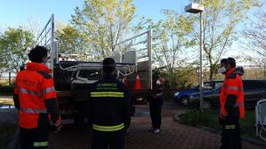 Ya van 200 ambulancias desinfectadas por los Bomberos de Diputación y Ayuntamiento