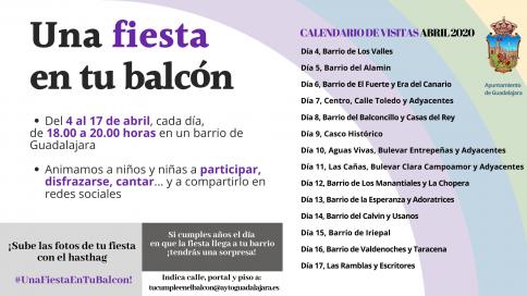 'Una Fiesta en tu balcón' para divertir a los niños de los barrios de la capital
