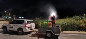 Yebes desinfecta parques y arboledas contra las plagas veraniegas