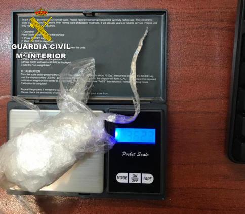 Detenida una persona en Corduente con 37 gramos de cocaína