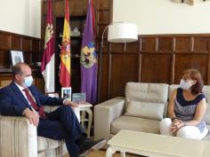Primera reunión de la nueva subdelegada del Gobierno con el alcalde de la capital