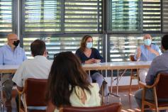 Villanueva se reúne con alcaldes de la Campiña para hablar de ayudas de Diputación al empleo y la contratación