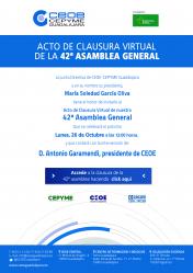 CEOE-Cepyme celebrará su 42ª Aseamblea General de maneral virtual el próximo 26 de octubre