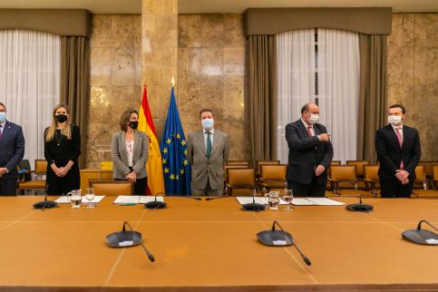 Junta, Ministerio, FEMP y AMAC firman el protocolo de actuación para el Convenio de Transición Justa de Zorita