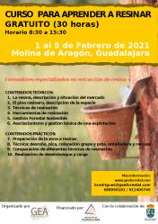 Curso de resineros entre el 1 y el 5 de febrero en Molina de Aragón