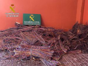 Cuatro detenidos por robo de cable telefónico en Luzaga
