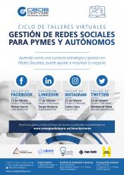 CEOE-Cepyme enseñará a pymes y autónomos a manejarse en redes sociales
