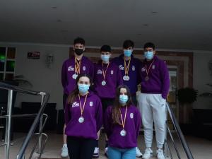 El Club Natación Guadalajara se vuelve del Campeonato de España con 10 medallas