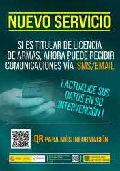 Si tienes armas, la Guardia Civil se va a comunicar contigo vía email y SMS