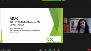 ADAC muestra en un seminario internacional sus acciones de apoyo a emprendedores ante la crisis del COVID-19