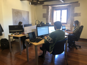 Seis alumnos de un curso tecnológico de ADEL Sierra Norte ya trabajan en el coworking de Sigüenza