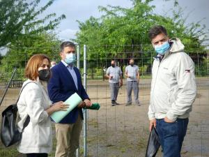 Nuevo equipamiento deportivo para practicar calistenia en el parque de la Olmeda