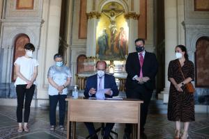Ayuntamiento y Fundación San Diego Alcalá seguirán colaborando para que se pueda visitar el Panteón de la Duquesa de Sevillano