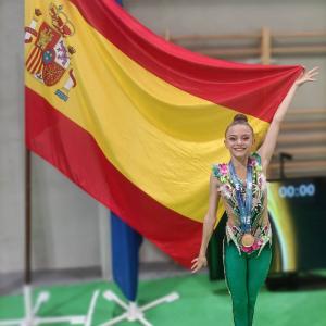 Tres medallas para Aimara Fajardo en el Campeonato de España de Gimnasia Rítmica
