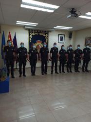 Siete policías nacionales en formación hacen sus prácticas en Guadalajara