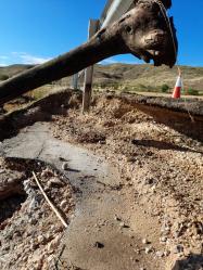 Las brigadas de Diputación siguen trabajando en la limpieza de carreteras afectadas por las tormentas