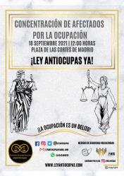 'Defiende Horche' se une a la manifestación frente al Congreso para pedir una 'ley antiokupas'