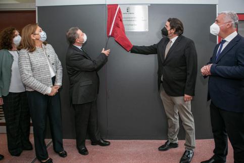García-Page inaugura la ampliación del IES 'Alejo Vera' en Marchamalo